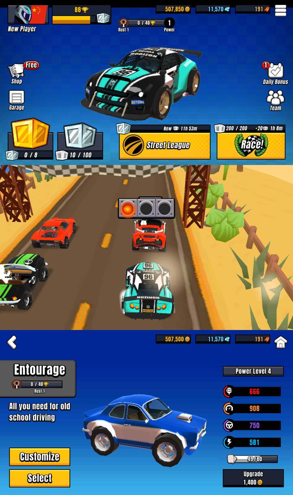 赛车漂移游戏 卡丁车英雄