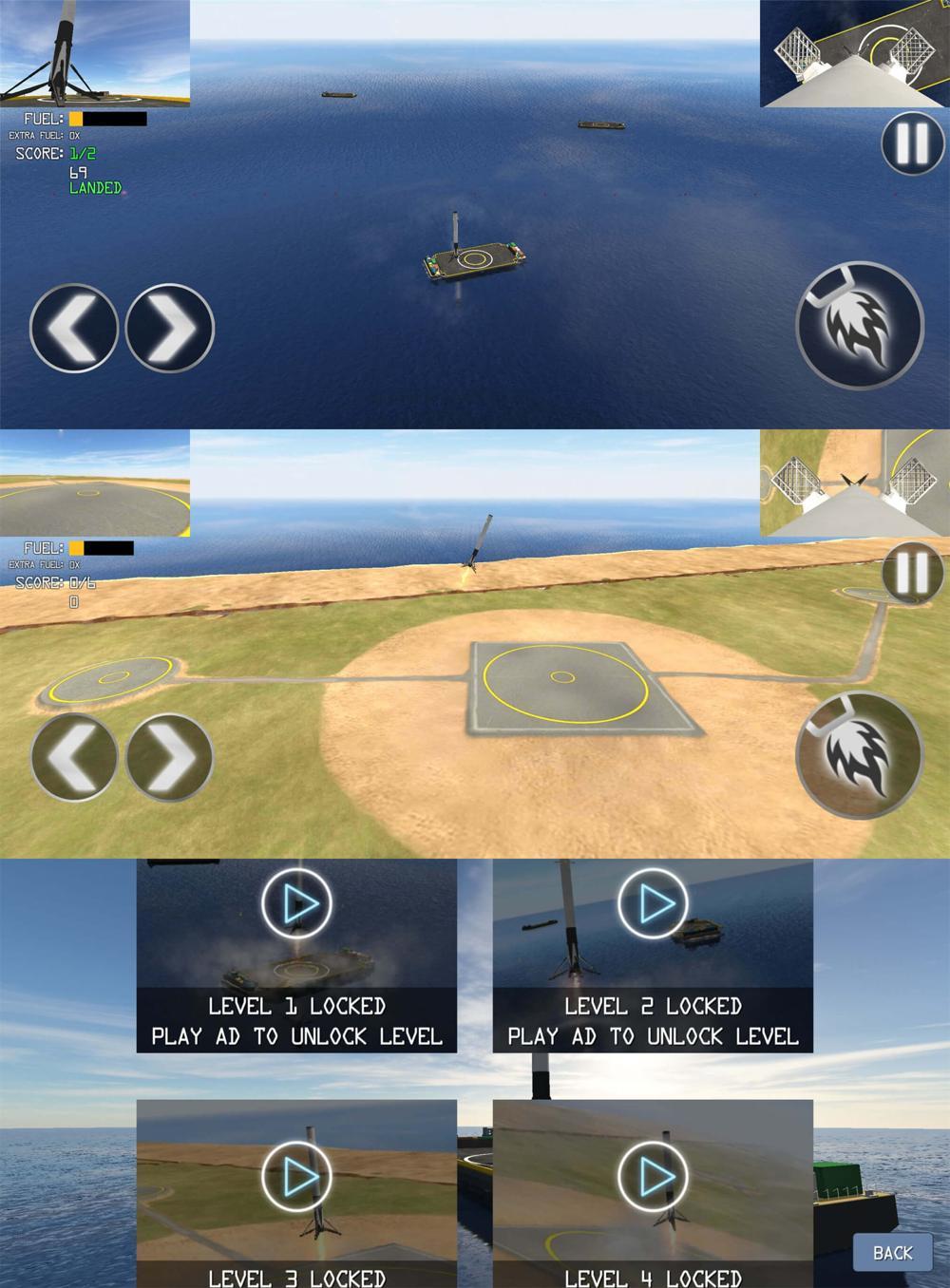 飞行模拟游戏 一级着陆模拟器