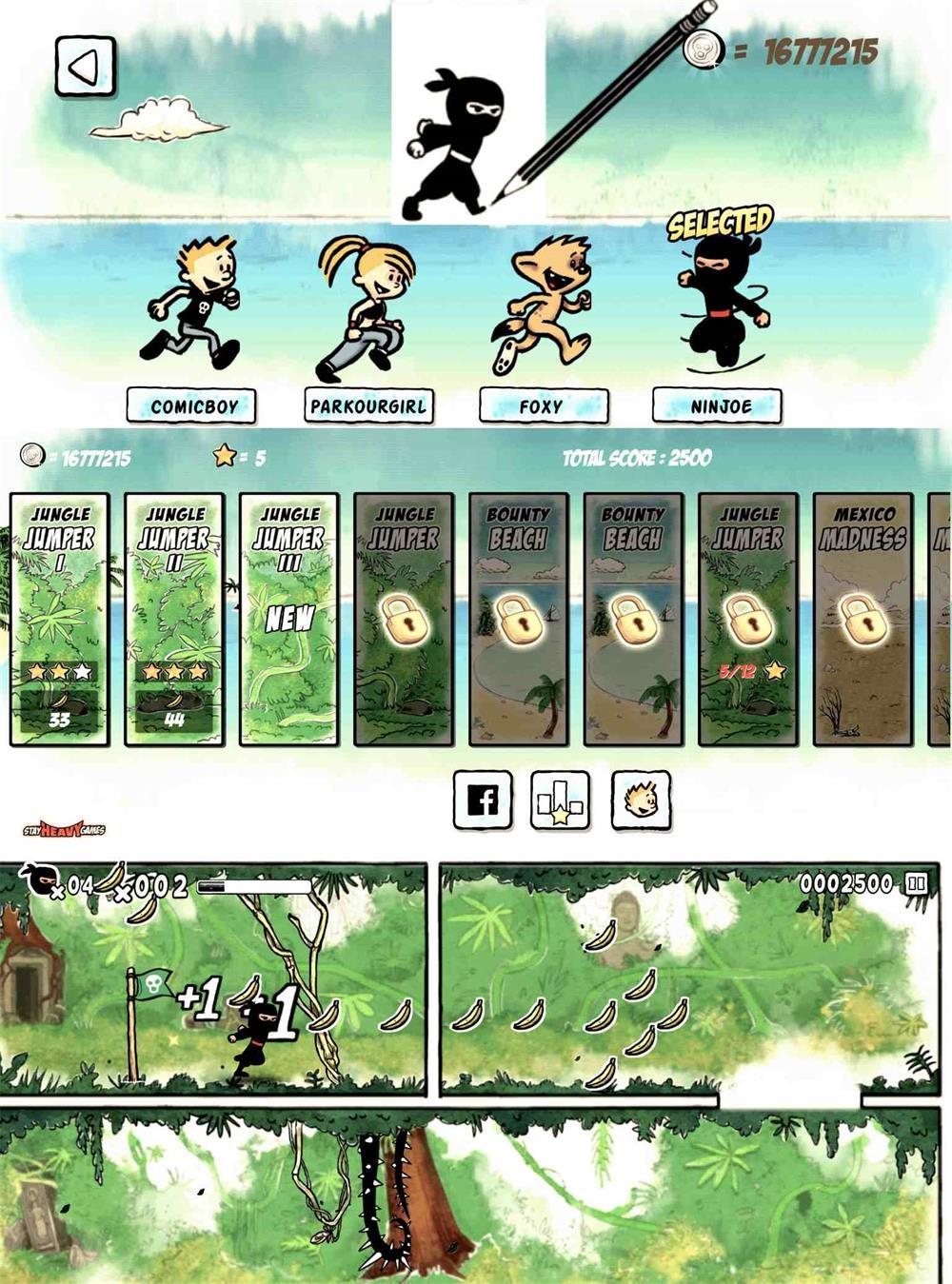 最佳动作平台游戏 漫画男孩