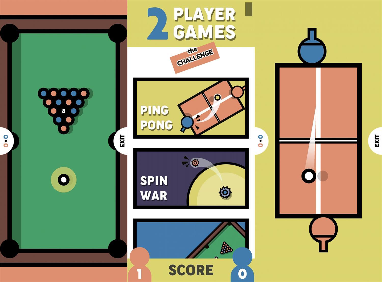 休闲娱乐游戏 两个人的挑战