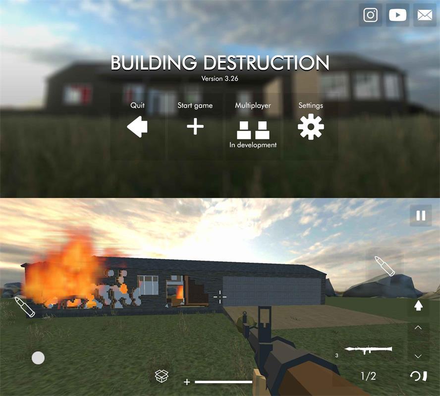 沙盒破坏游戏 建筑物破坏