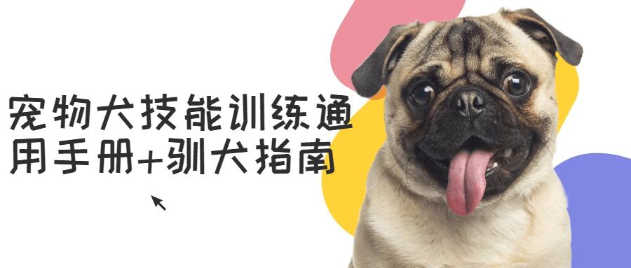 宠物犬技能训练通用手册+驯犬指南