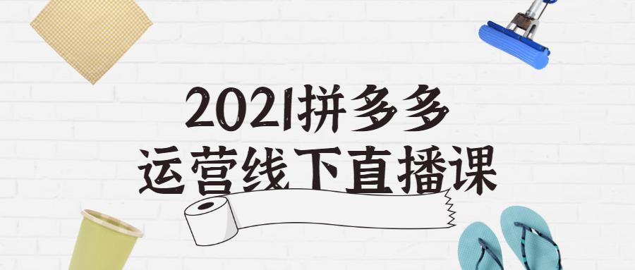 2021拼多多运营线下直播课