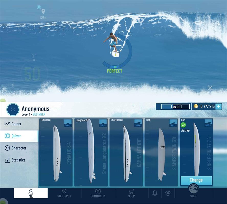 模拟冲浪运动游戏 真实冲浪